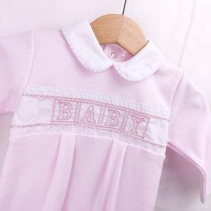 New Pink Cotton Babygrow