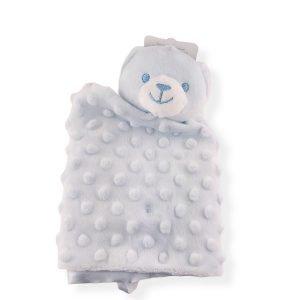 Blue Teddy Bear Comforter