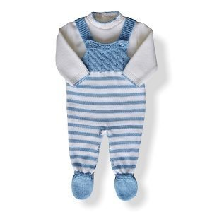 Knitted Dungarees 2 Piece Outfit