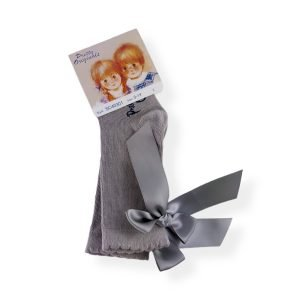Pretty Originals Grey Ribbon Socks