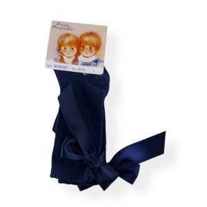 Pretty Originals Navy Blue Bow Socks