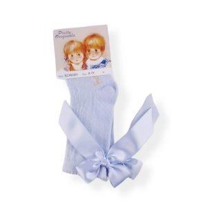 Pretty Originals Light Blue Bow Socks