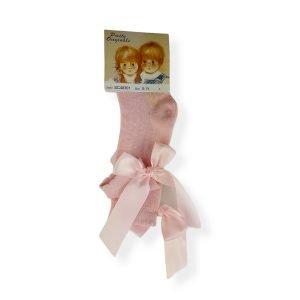 Pretty Originals Pink Bow Socks