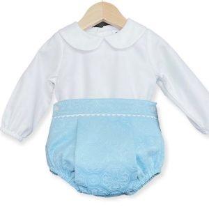 Blue Jam Pants Set