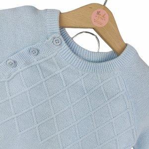 Baby Blue Diamond Knit Set