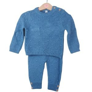 Indigo Blue Knitted Outfit