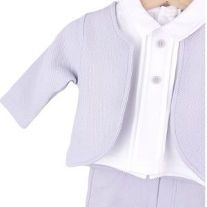 Baby Boy 4 Piece Grey Outfit