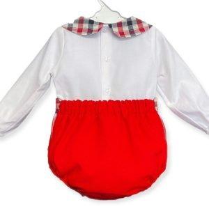 Red Jam Pants Set