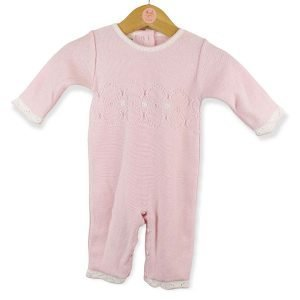 Pink Knitted Sleepsuit